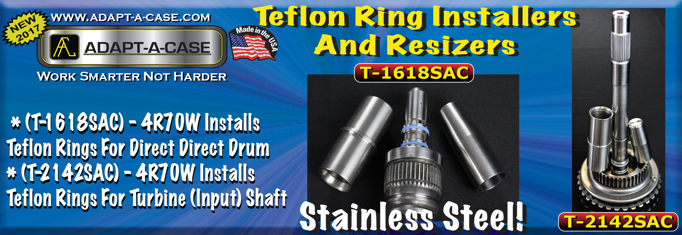Stainless Steel Teflon Rin Installers for 4R70W